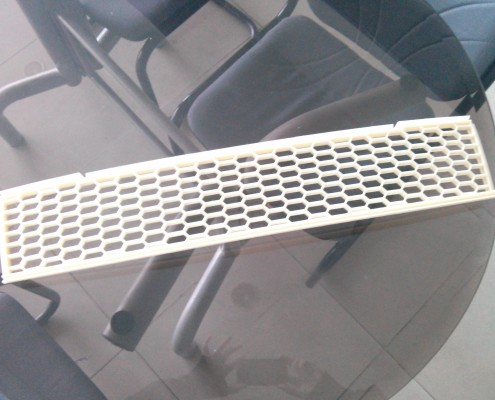 Custom Made Hex Car Grille - Top View