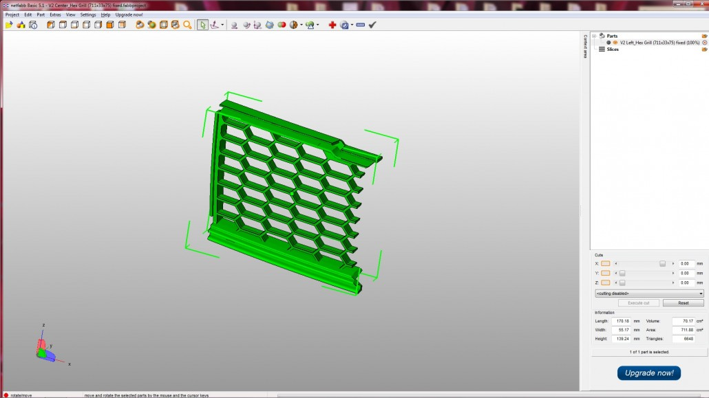 3D Printed Custom Made Car Grille For Form Fitting - Rapid Model