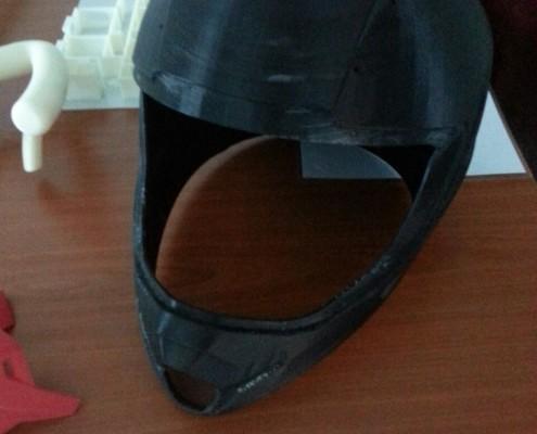 3D Printed Base Helmet - Black