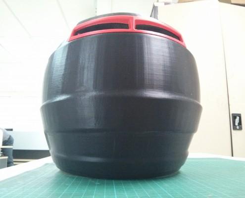 3D Printed Motorcross Helmet - Back