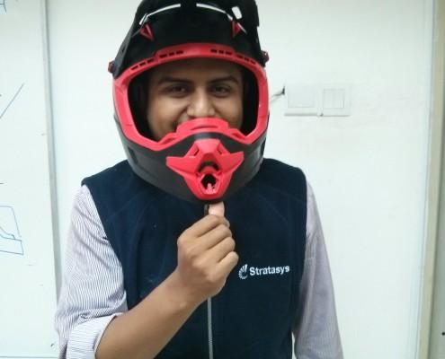 3D Printed Motorcross Helmet - Ezrul wearing helmet