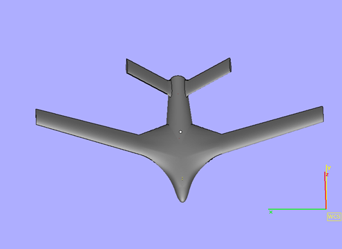 3D Printed Aeroplane STL - Front View