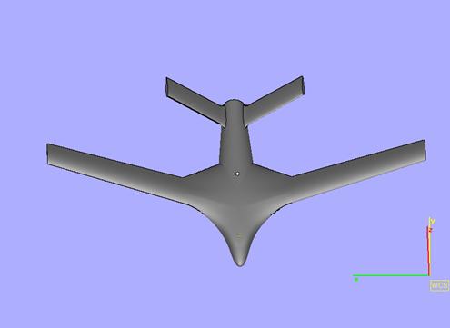 3D Printed Aeroplane STL - Front View