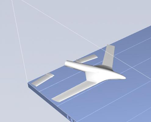 3D Printed Aeroplane STL - Print 1