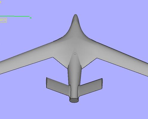 3D Printed Aeroplane STL - Top View