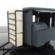 3D Printed Mobile Kiosk Assembled - Diagonal View