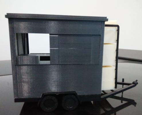 3D Printed Mobile Kiosk Assembled - Back View