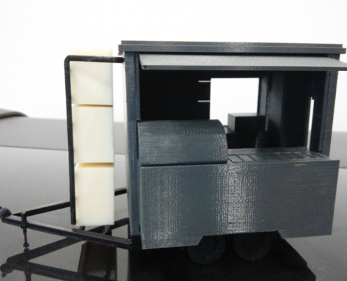 3D Printed Mobile Kiosk Assembled - Front View