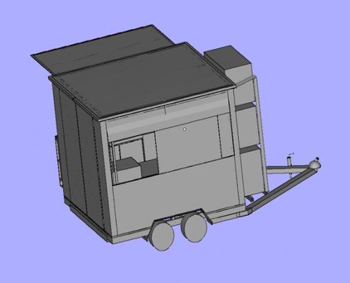 3D Printed Mobile Kiosk - Back View