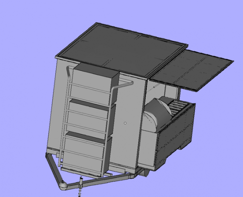3D Printed Mobile Kiosk - Side View