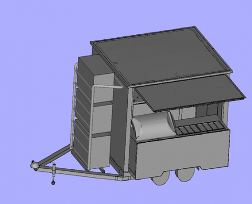 3D Printed Mobile Kiosk - Front View