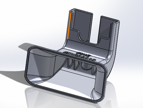 3D Printed iPhone Amplifier_CAD_Right