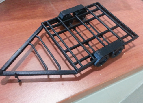 3D Printed Mobile Kiosk - Trolley