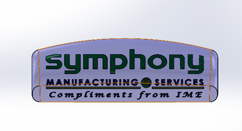 Symphony 3D STL File_Front