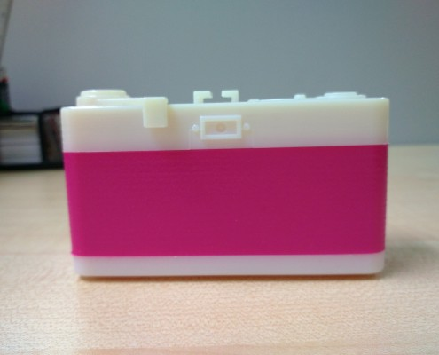 3D Printed Pinhole Camera Back View