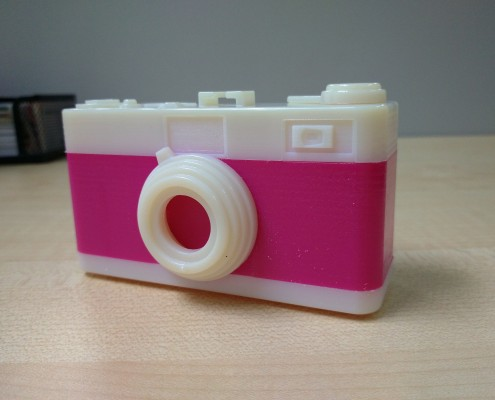3D Printed Pinhole Camera Side View
